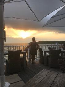 Sunset over dinner