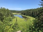 Looking down at the beaver lakes